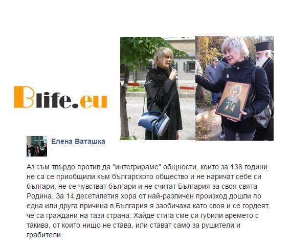 От циганите нищо не става каза Елена Ваташка стават само за рушители и грабители.