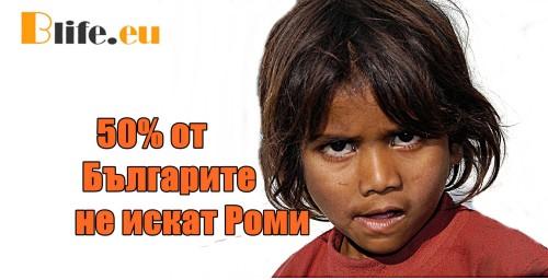 50% от Българите не искат Роми