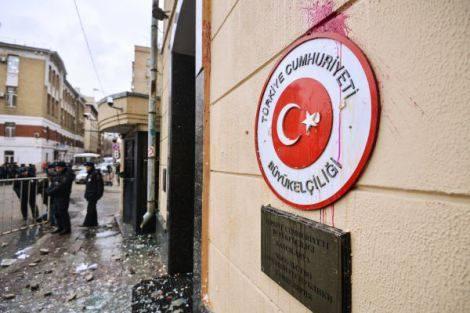 Турското посолство бе разбито в Москва