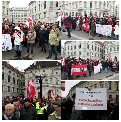 Протест и във Виена +ВИДЕО