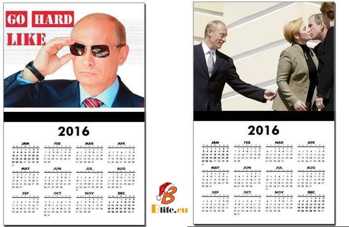 Най-купуваният календар в Русия е с ликът на Владимир Путин
