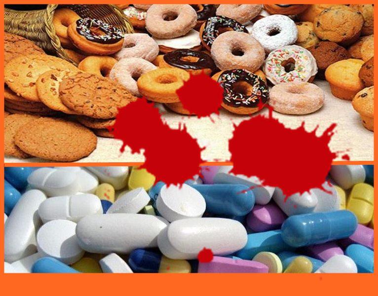 Приликата между вредните храни и наркотиците